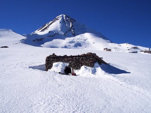 The Cooper Spur shelter, Mt. Hood