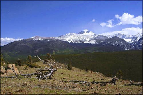 Longs Peak from Steep Mountain