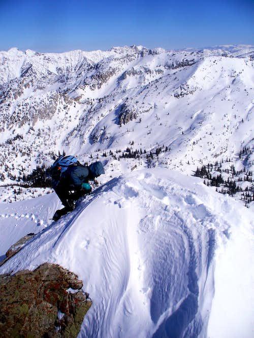 On the summit block of Lone Peak