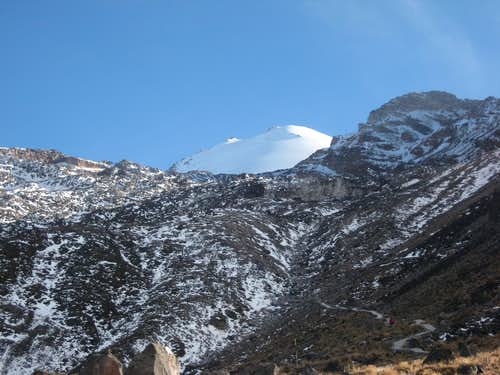 Jamapa Glacier from below