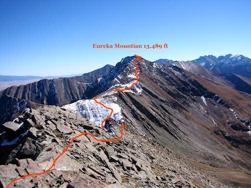 Eureka Mountain route seen...