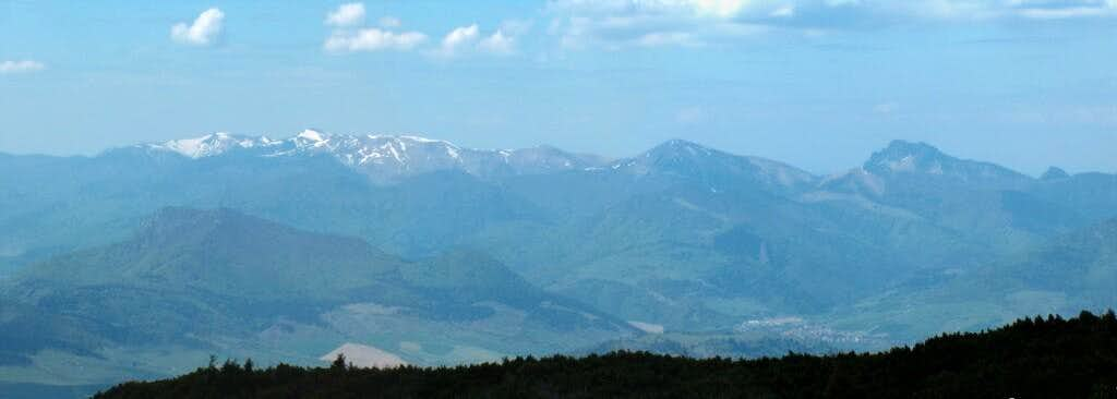 Looking West from the top of Veľký Choc to the Mala Fatra