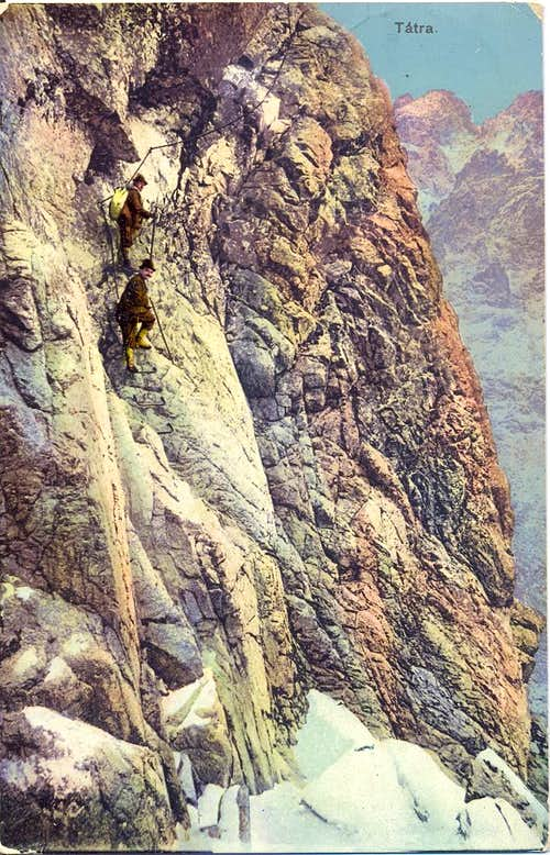 Old-time climbers in the High Tatras