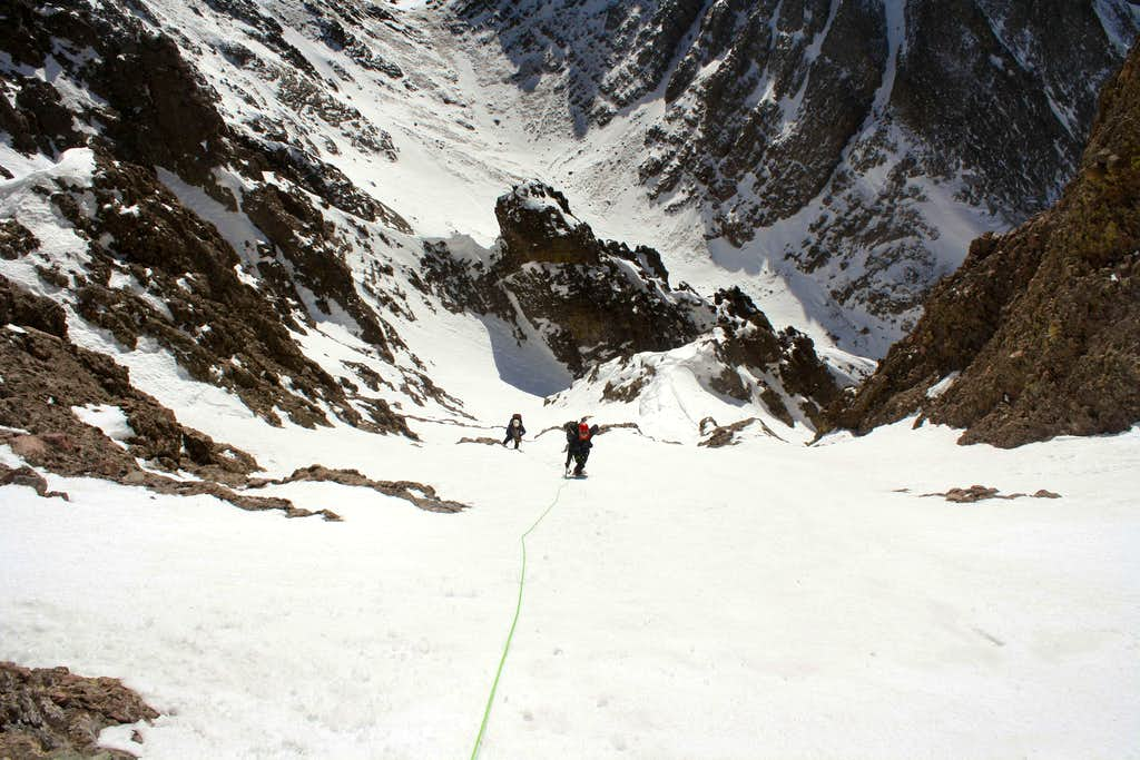 Eastern couloir on Crestone Needle's south face