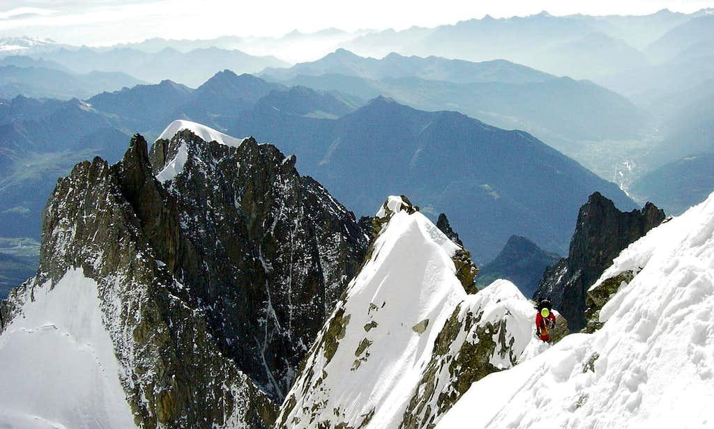 Climbing the Innominata Ridge