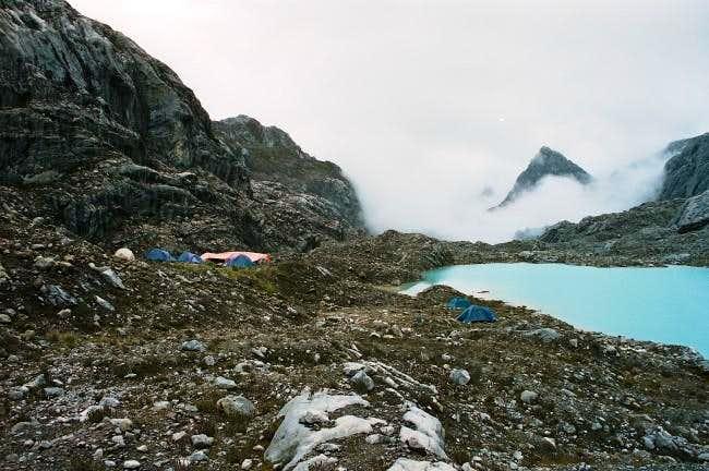 Carstensz Basecamp at 4200m....