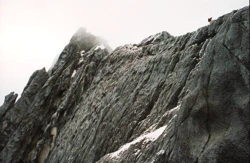 The carstensz pyramid summit...
