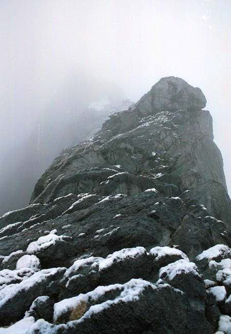 The summitridge as seen from...