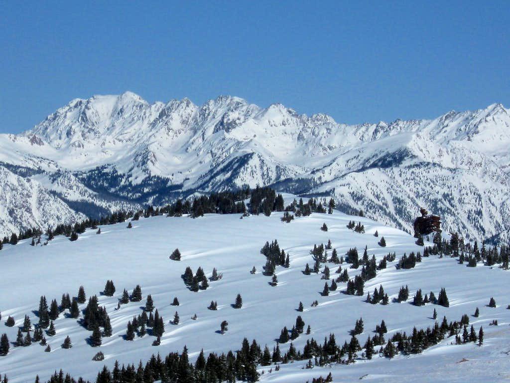 Shrine Mountain and the Gore Range