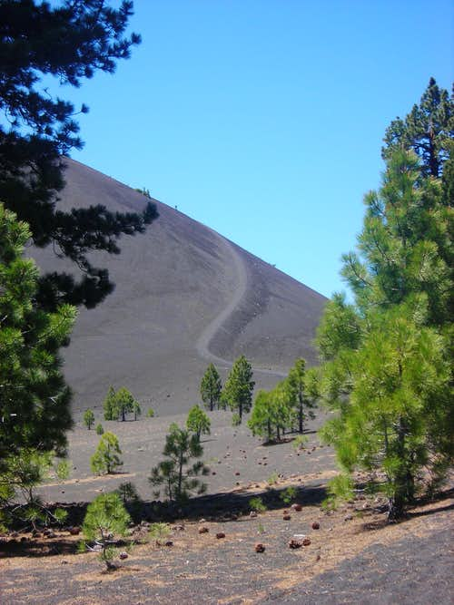 First Glimpse of Cinder Cone Trail
