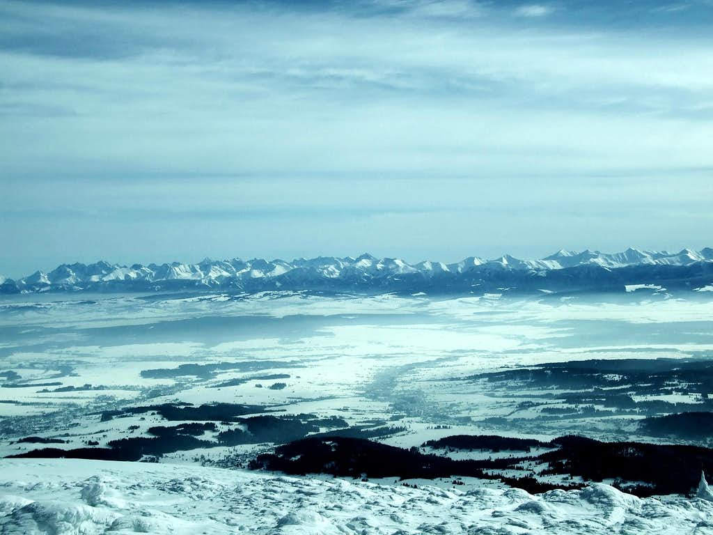 High Tatra from Babia Góra