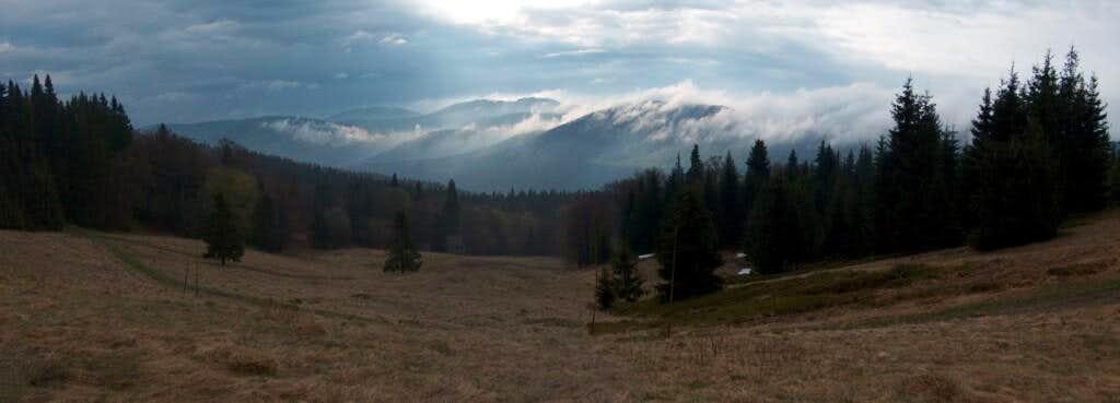 Rainy morning from Polana Rycerzowa.