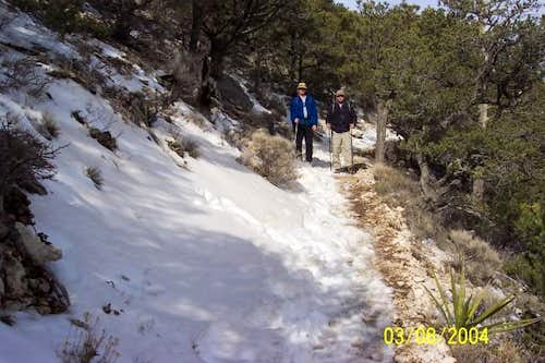 Nice hike with a little snow....