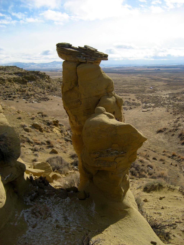 Sandstone spire on Polecat Bench