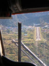 Pilots view of Lukla Airstrip