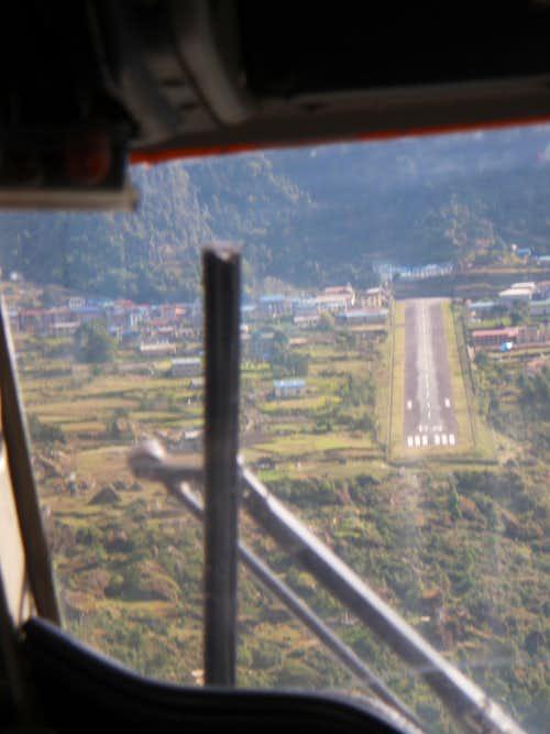 Pilots view of Lukla Airstrip