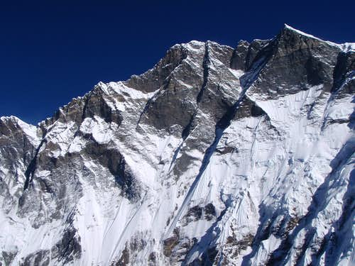 Lotse Wall from the summit of Island Peak
