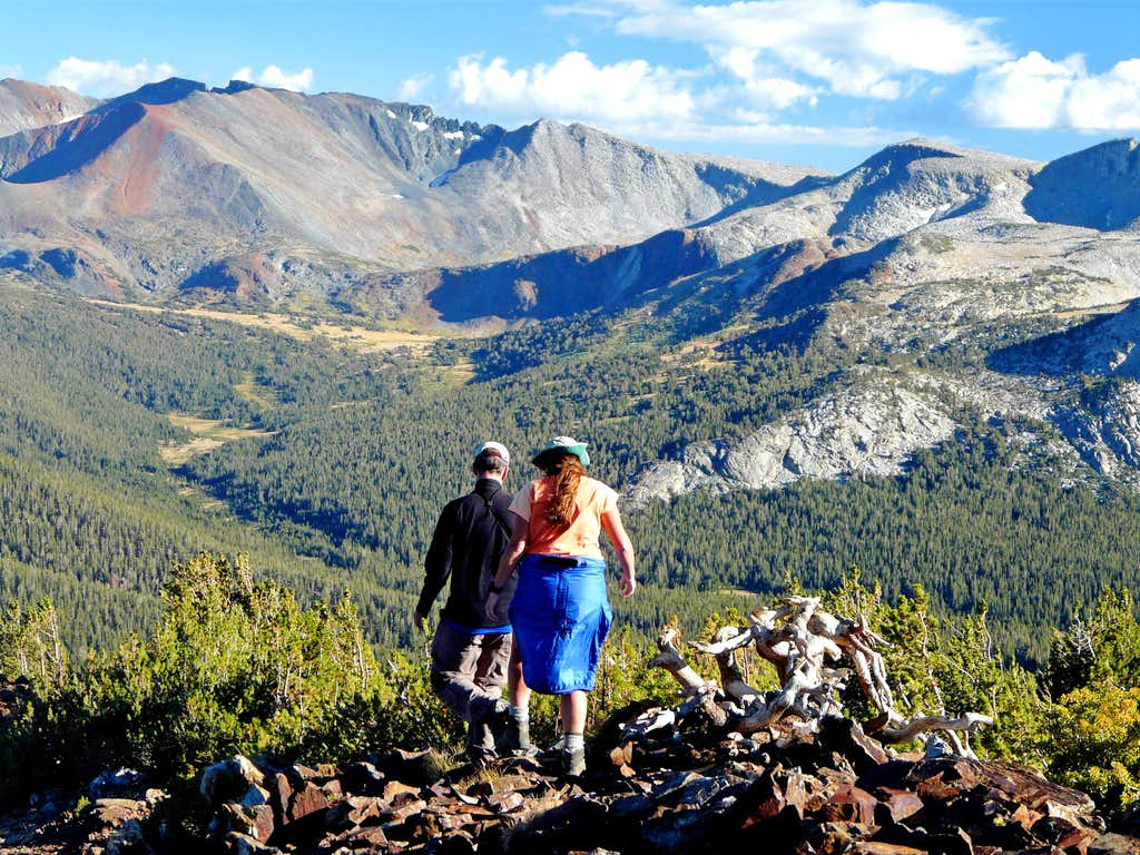 Hikers descending Gaylor Peak