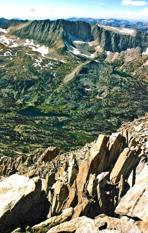 Sierra Crest from Mt. Morgan