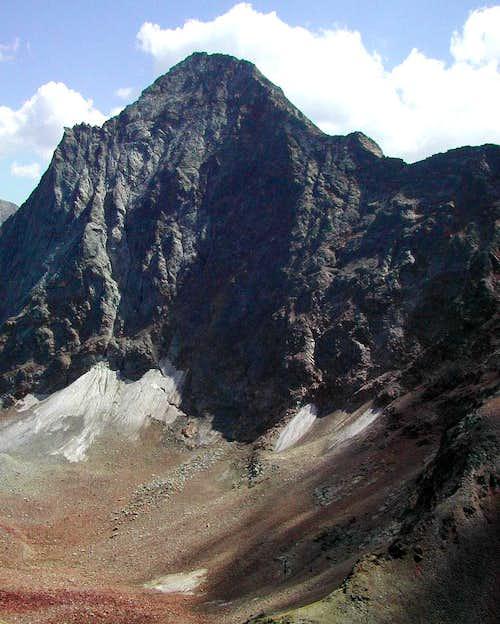 Emilius <i>3559m </i> and Piccolo Emilius <i>3342m</i> <br>from the summit of Becca di Nona <i>3142m</i>