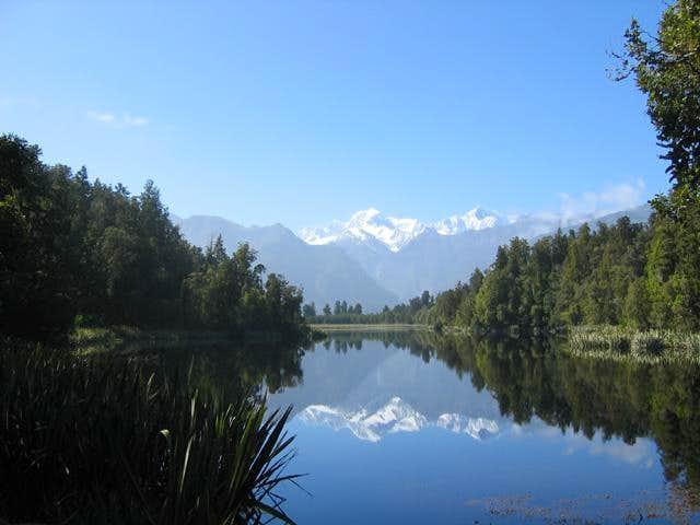 Mt Cook & Mt Tasman from Lake...