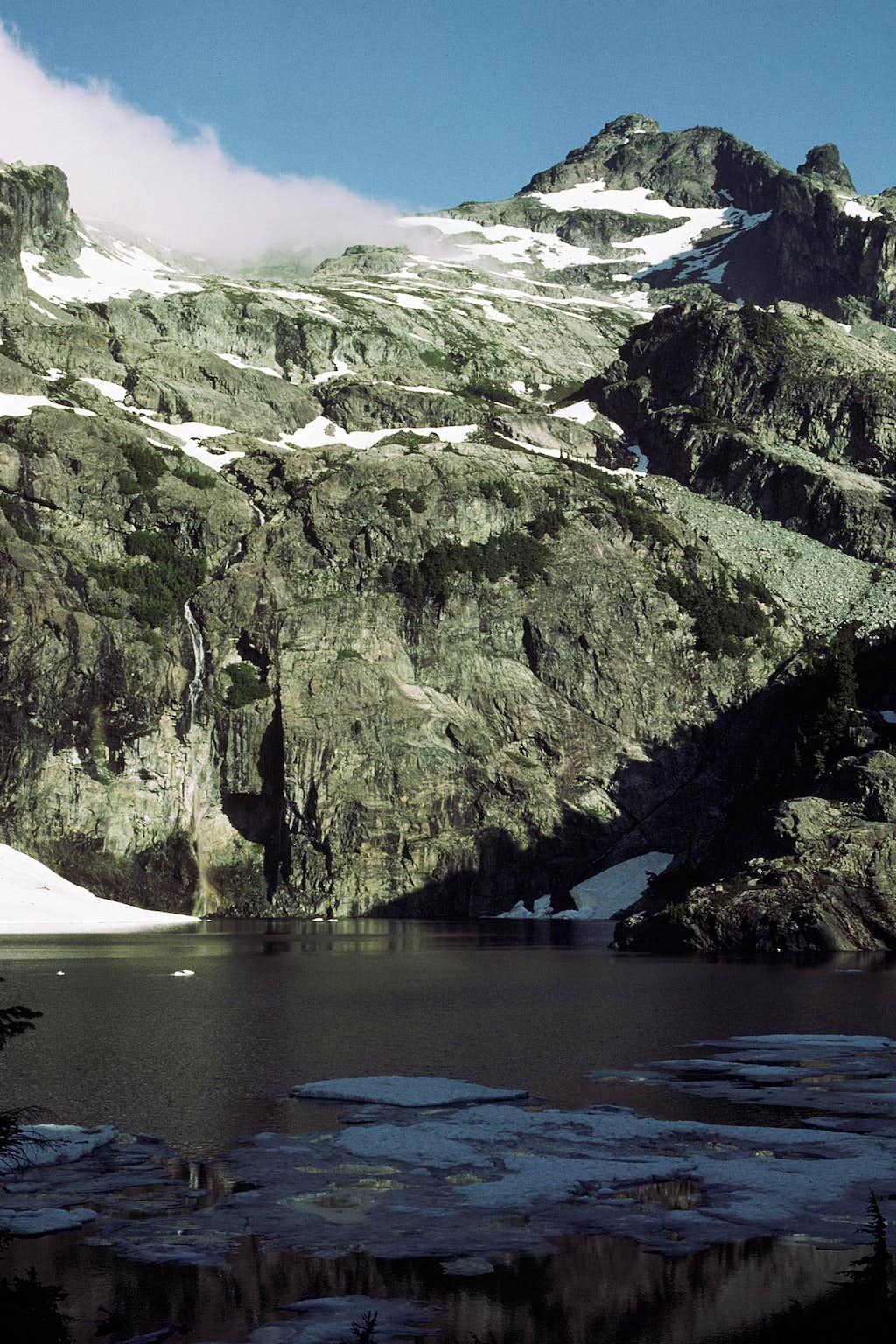 Chikamin Peak from Glacier Lake