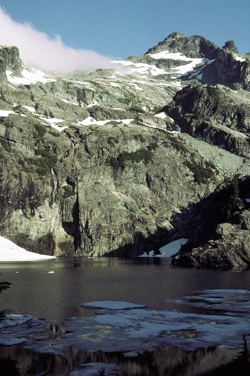 Chikamin Peak from Glacier Lake