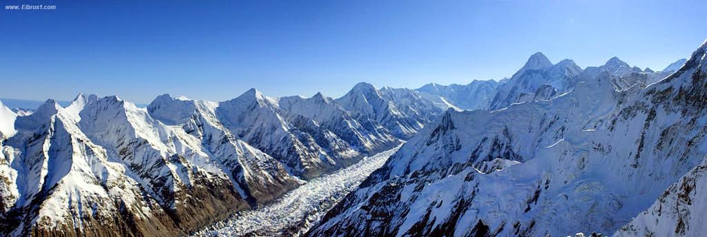 Flying over Tien-Shan...