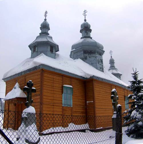 Church in Bartne, Beskid Niski