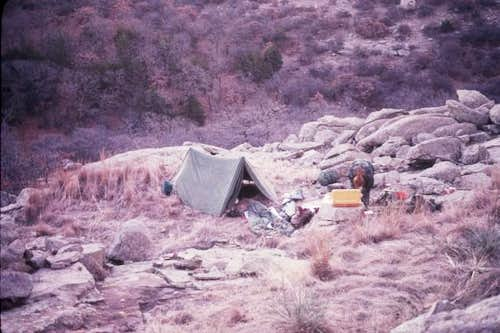 This was our delightful camp...