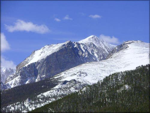 Hallett Peak from Steep Mountain
