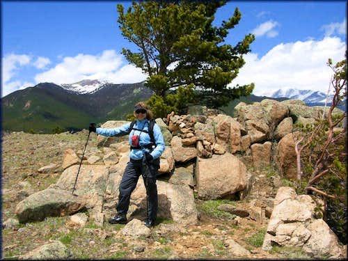 On the summit of Steep Mountain