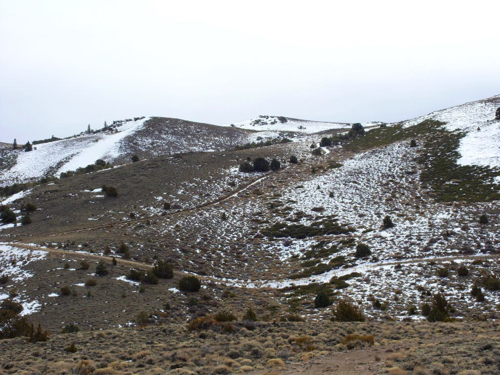 Upper slopes of the plateau