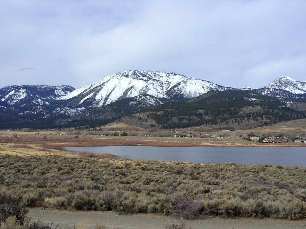 Slide Mountain from Little Washoe Lake