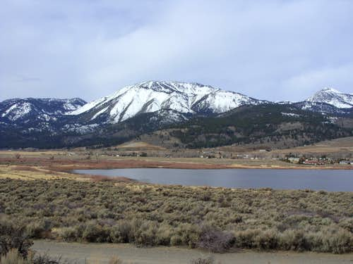 Slide Mountain from Little Washoe Lake