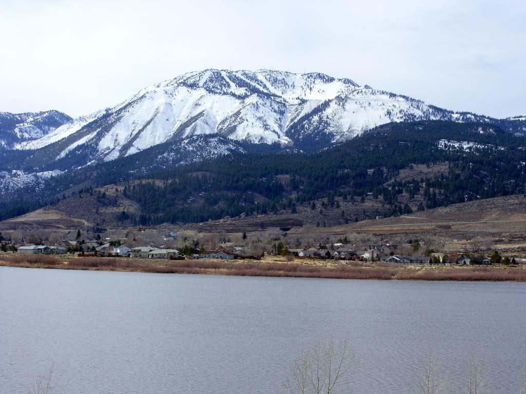 Slide Mountain above Little Washoe Lake