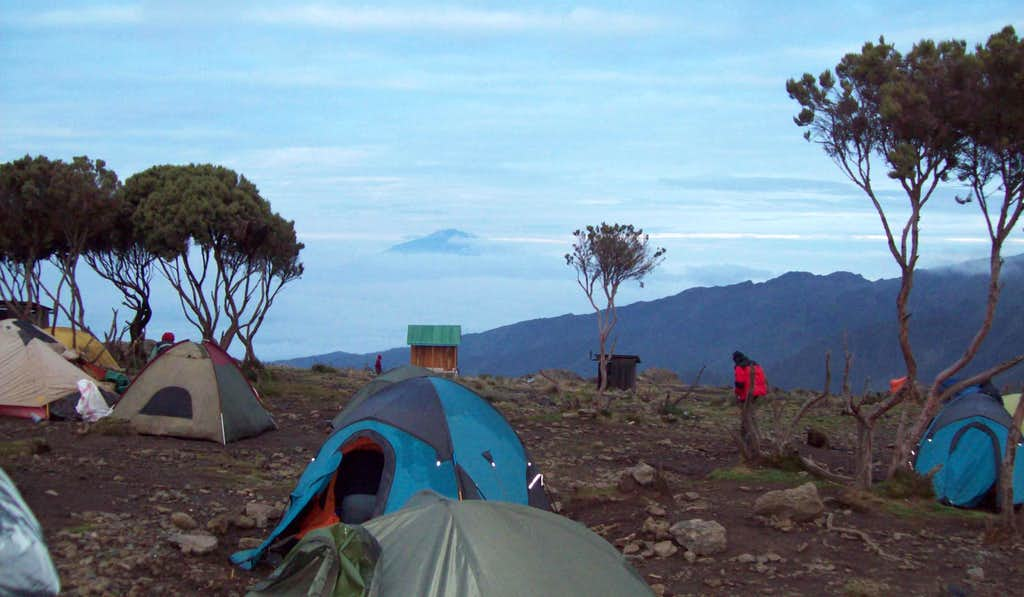 Meru from Shira Camp
