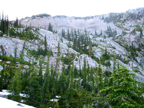 Peak 7,835 Above Rainbow Lake