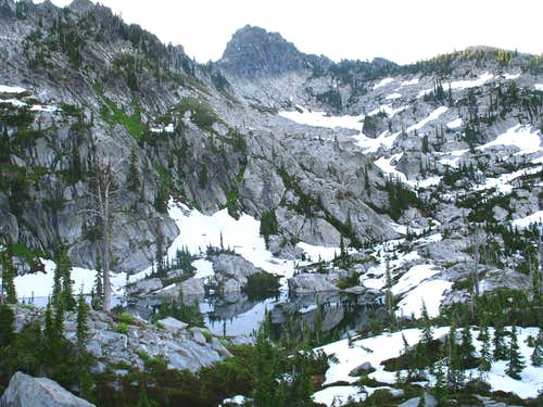 Rainbow Lake and Point 7,740