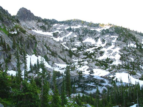Rainbow Lake Below Crag 7,740