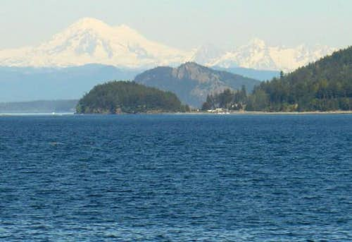 Mount Baker from Orcas Island...