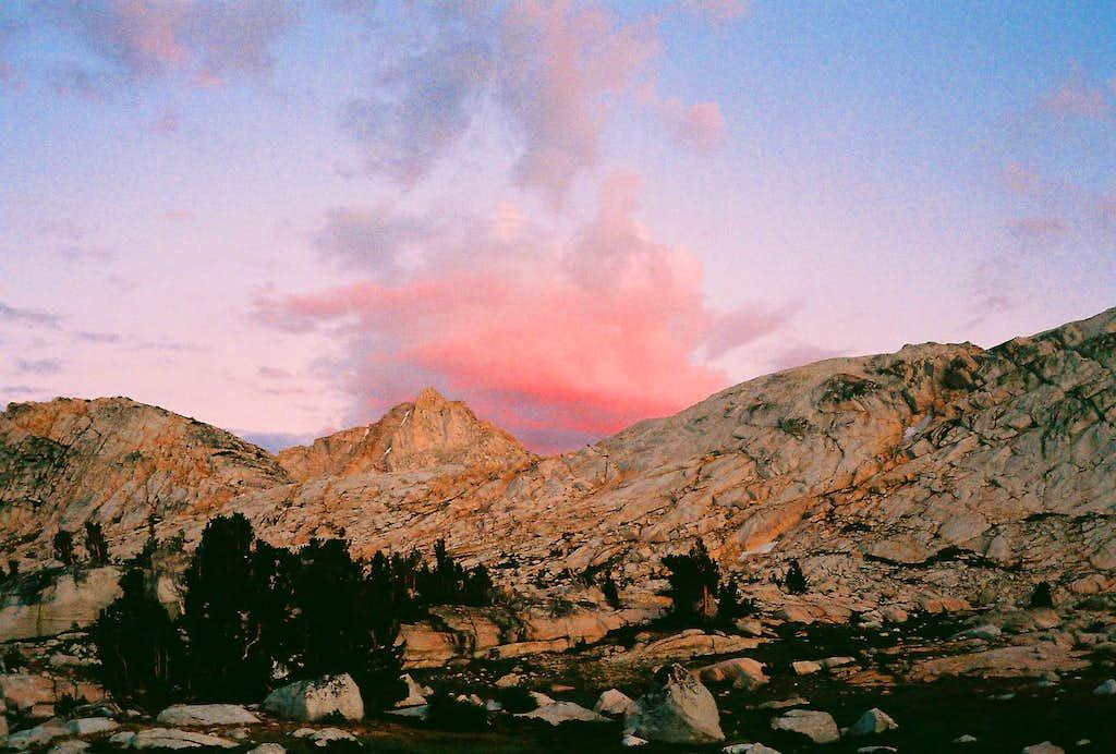 Whorl Mountain Alpenglow