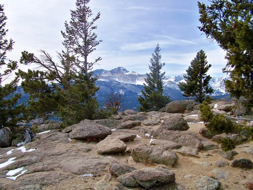 Longs Peak from Deer Mountain Summit