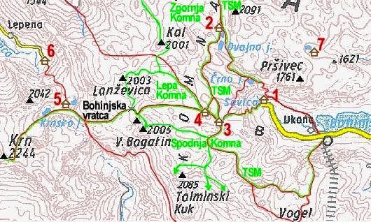 A self-made map of Komna...