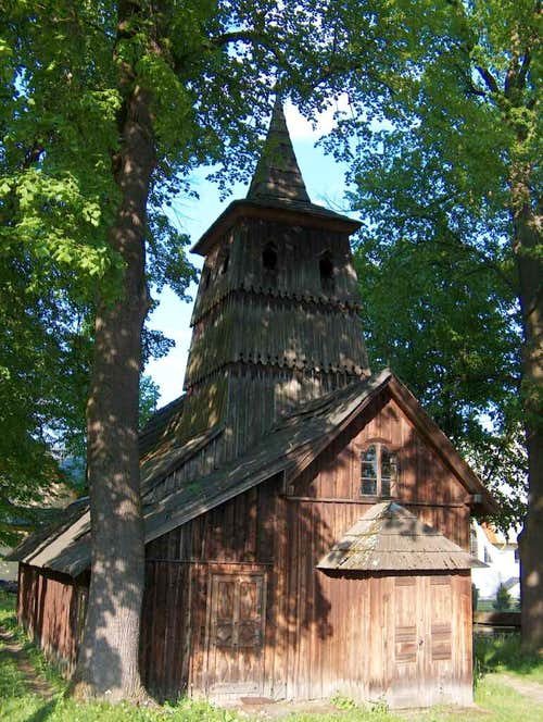 Old wooden chuch in Sromowce Niżne, in the old Ulica Flicacka