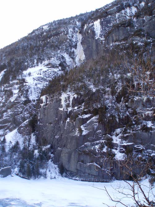 Avalanche Mountain Gully from Avalanche Lake