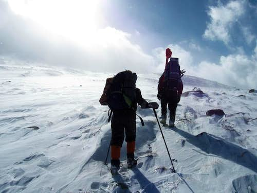 toward the first hut of Damavand\'s North Face