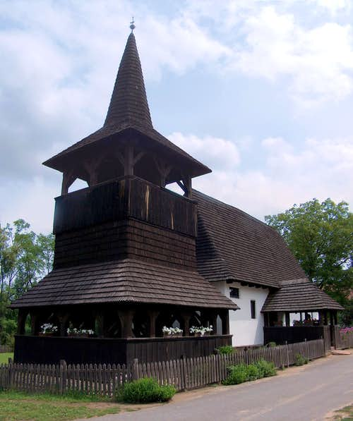 The wooden church (reformed) in Takos, Hungary