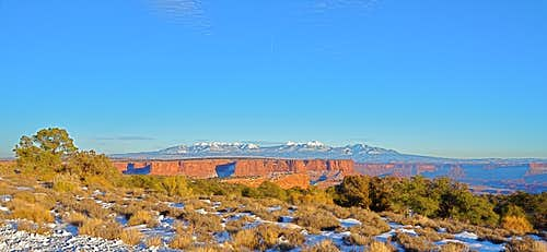 La Sal Mountains seen from Island In The Sky