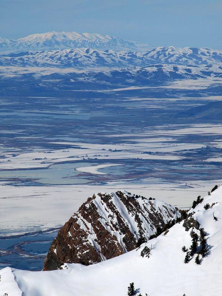 Rock fin on Willard Peak